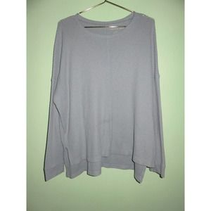 American Eagle Periwinkle Waffle Knit Thermal Top